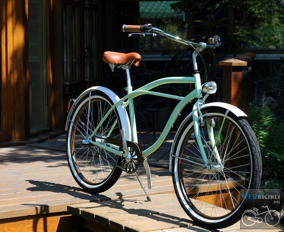 Stray Cat Egyedi Cruiser Kerékpár - menta-fehér-barna