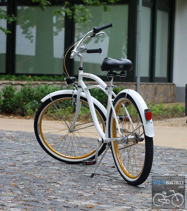 Stray Cat Egyedi Cruiser Kerékpár - fehér-arany