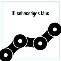 10 sebességes lánc