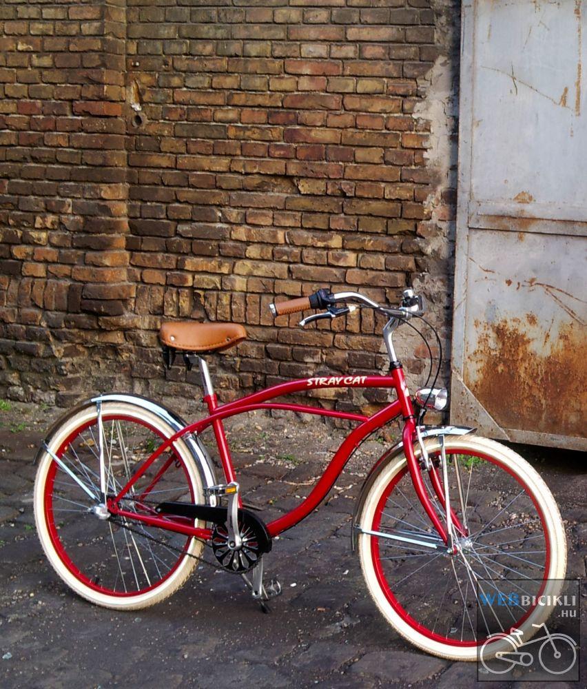 Egyedi Stray Cat Férfi Cruiser Kerékpár - 1sp / 3sp - Bordó-Króm