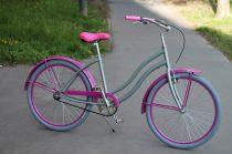 Egyedi-Cruiser-Noi-Kerekpar-1sp-/-3-sp-Cink-metal - pink