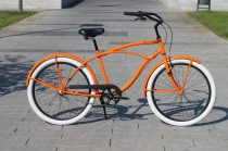 Egyedi-Ferfi-Cruiser-Kerekpar-1sp-/-3sp-Narancs