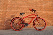 Egyedi-Ferfi-Cruiser-Kerekpar-1sp-/-3sp-Piros-Fekete