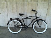 Toldi Cruiser - Férfi cruiser kerékpár - 3 sebességes agyváltós - kontrás bicikli - Fényes fekete színben