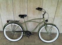 Toldi Cruiser - Férfi cruiser kerékpár - 1 sebességes - kontrás bicikli - Military színben