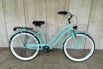 Toldi Cruiser - Női cruiser kerékpár - 3 sebességes agyváltós - kontrás bicikli - Türkiz színben