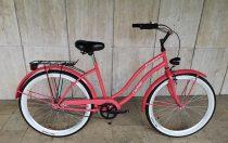 Toldi Cruiser - Női cruiser kerékpár - 3 sebességes agyváltós - kontrás bicikli - Eper színben
