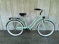 Toldi Cruiser - Női cruiser kerékpár - 3 sebességes agyváltós - kontrás bicikli - Menta zöld