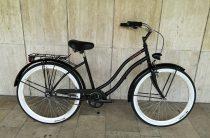 Toldi Cruiser - Női cruiser kerékpár - 3 sebességes agyváltós - kontrás bicikli - Matt fekete színben