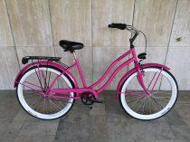Toldi Cruiser - Női cruiser kerékpár - 3 sebességes agyváltós - kontrás bicikli - Pink színben