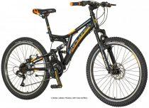 """Explorer Thunder 24"""" gyerek kerékpár - Összteleszkópos V-fékes MTB bicikli - Fekete"""