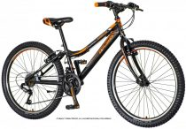 Explorer Magnito 24 fiú fekete gyerek kerékpár tárcsafékes