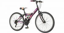 """Venssini Parma 24"""" lány gyerek kerékpár - Fekete-Lila"""