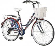 Visitor Polka női városi kontrás kerékpár - Kék színben