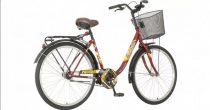 """Venssini Eternity CST 26"""" női városi kerékpár - Bordó színben"""