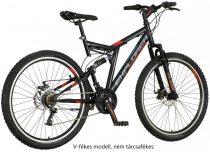 Explorer Thunder 26 férfi összteleszkópos V-fékes MTB kerékpár Fekete-Piros