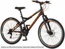 """Explorer Vortex 26"""" tárcsafékes gyerek MTB kerékpár 16"""" vázzal - Fekete-narancs színben"""
