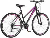 Visitor Smart női crosstrekking kerékpár Fekete-Lila