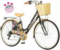 Visitor Mákvirág városi kerékpár Fekete