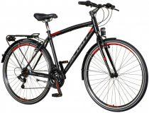 Visitor Urban férfi trekking kerékpár - Fekete-piros