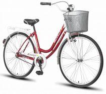 Scout Lowland női városi kerékpár Fehér-Piros