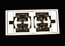 """BMX pedál alu 1/2"""" fekete/ezüst"""
