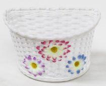 Gyermek műanyag virágos kosár 22X15X15 mm