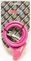 Csepel lakat - 10x1000 mm - Kulcsos - Szilikon - Pink