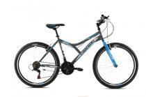 """Capriolo Diavolo 600 26"""" férfi MTB kerékpár 17"""" Grafit-Kék 2020"""