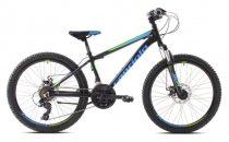 """Capriolo Zed 24"""" - gyerek kerékpár - fekete - zöld - kék"""
