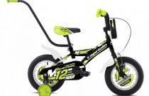 """Capriolo Mustang 12"""" gyerek kerékpár - Fekete"""