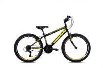 """Capriolo Rapide 240 24"""" gyerek kerékpár Fekete-Sárga 2021"""
