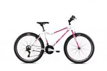 """Capriolo Diavolo 600 DX 26"""" női MTB kerékpár 15"""" Fehér-Rózsaszín - Extra kicsi vázzal - 2021"""