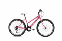 """Capriolo Passion Lady 26"""" női MTB kerékpár 17"""" Rózsaszín-Fehér 2021"""