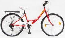 Piros Csepel Flora gyerek bicikli 24