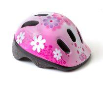 Kerékpáros sisak - S - 48-52 cm - pink - virágos