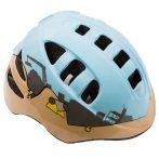 Kerékpáros sisak - S - 48-52 cm - világoskék - építkezős