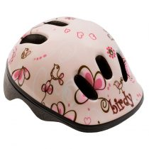Kerékpáros sisak - S - 48-52 cm - rózsaszín - madaras
