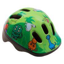 Kerékpáros sisak - S - 48-52 cm - zöld - dinós