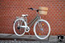 Egyedi festésű Mademoiselle trekking túra/városi kerékpár - Nőknek - 7sp - Gyöngy bézs