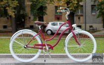 Egyedi Cruiser Kerékpár Női Bordó - Króm - Fehér