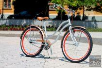 Egyedi Cruiser Női Kerékpár  1sp / 3 sp - Ezüst - Rose - Piros