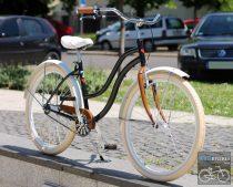 Egyedi Cruiser Női Kerékpár  1sp / 3 sp - Fekete - Feher - Barna