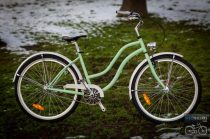 Egyedi Cruiser Női Kerékpár  1sp / 3 sp - Mentazöld - Fehér