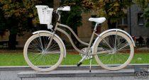 Egyedi Cruiser Női Kerékpár  1sp / 3 sp - Gyongybarna - Feher
