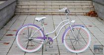 Egyedi Cruiser Női Kerékpár  1sp / 3 sp - Lila - Rózsa