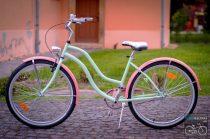Egyedi Cruiser Női Kerékpár  1sp / 3 sp - Mentazold Puncs