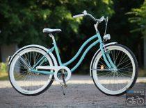 Egyedi Cruiser Női Kerékpár  1sp / 3 sp - Turkiz - Feher