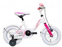 """Koliken Kid Bike 12"""" lány kerékpár - Fehér-pink"""