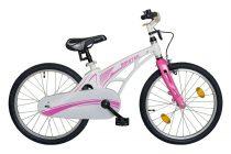 """Koliken Biketek magnézium 20"""" kislány bicikli - fehér-ciklámen"""